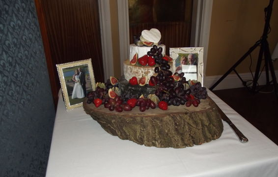 Wedding Cakes or Cheese Displays   Can be Provided